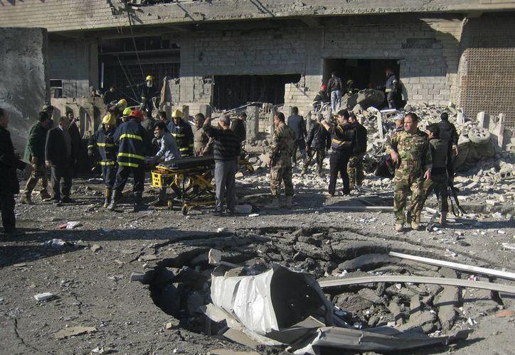 Zona de un atentado terrorista registrado en Kirkuk, Irak, el domingo 3 de febrero. (AP/Foto de archivo)