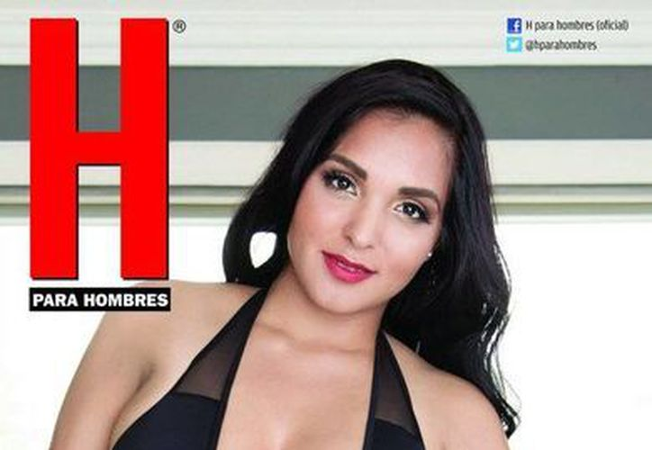 La revista H publicó en su cuenta de Instagram la portada donde aparece Nidia García. (instagram.com/revistahombre)