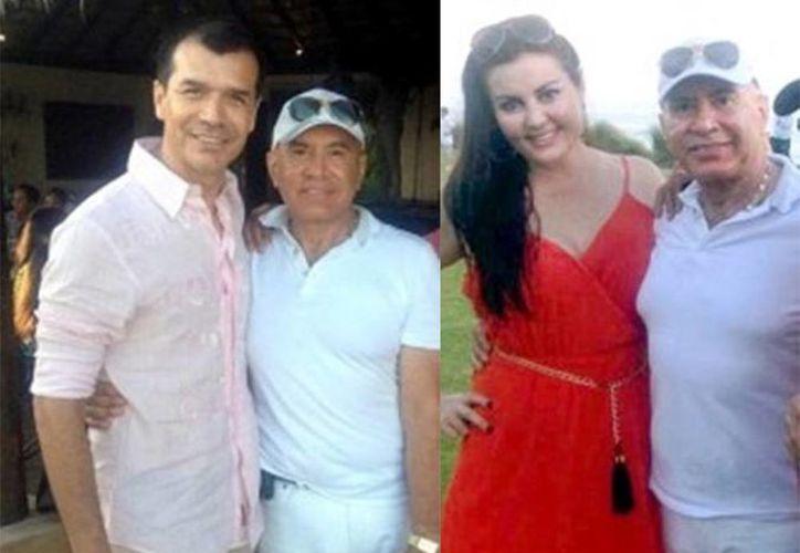 Arellano Félix acompañado del exfutbolista Jared Borgetti (izq) y su esposa la exreina del Carnaval de Mazatlán en 1990, Rocío del Carmen Lizárraga Lizárraga. (Excelsior)