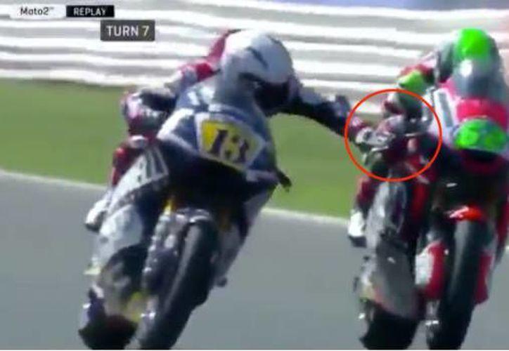 El Gran Premio de San Marino sestuvo a punto de ser empañado por la actitud de motociclista. (SDP Noticias)