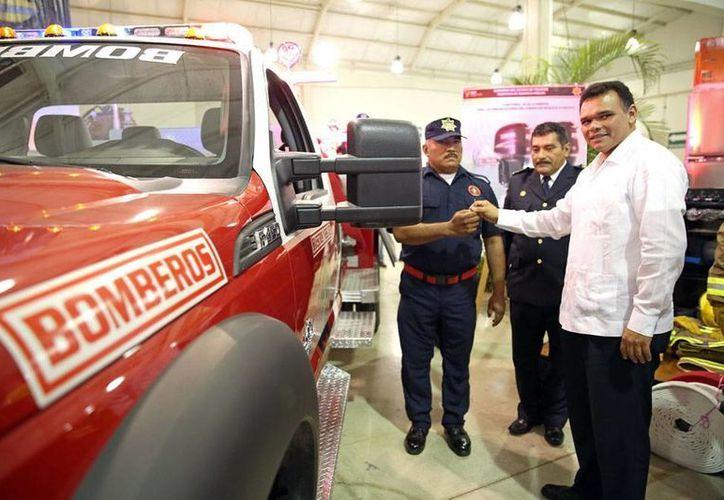 El Gobierno del Estado renovó parte del parque vehicular del Cuerpo de Bomberos de la Secretaría de Seguridad Pública (SSP). (Cortesía)