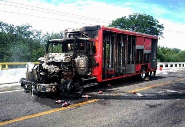 La quema del vehículo de la refresquera ocurrió en el municipio michoacano de Múgica. (Excélsior)