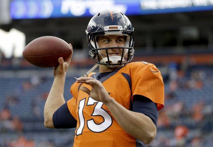 Tras el retiro de Peyton Manning, el sucesor es Trevor Siemian (foto). (AP)