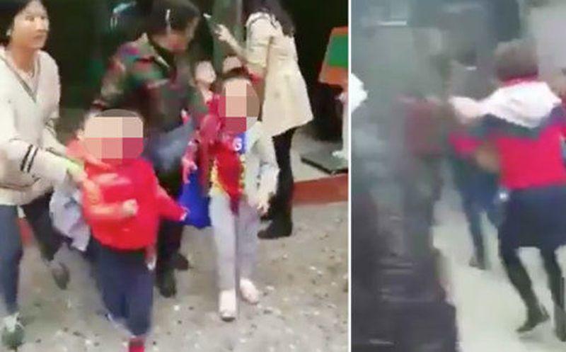 Una mujer acuchilló a 14 nenes en una guardería