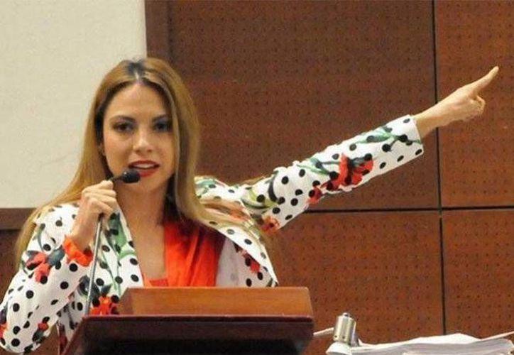 La diputada local Iris Aguirre Borrego señaló desde tribuna que 'son los mexicanos los que se quieren pasar de listos'. (Excélsior)