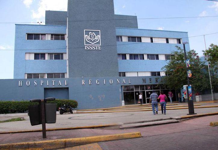 Imagen del hospital regional del Issste, ubicado en el poniente de Mérida, en el que se invierten 90 mdp para remodelación. (Milenio Novedades)