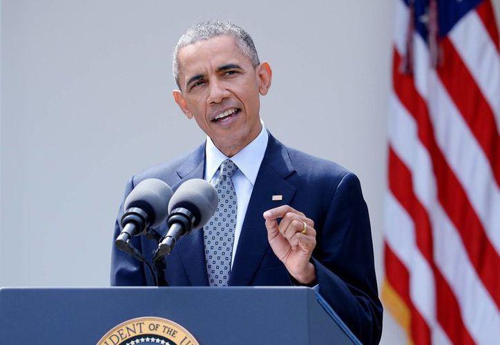 Fósiles de mamut, un monte y un desierto, nuevos monumentos nacionales de Estados Unidos. En la imagen, el presidente Barack Obama durante el anuncio. (EFE)