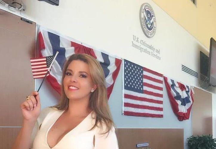 La ex Miss Universo Alicia Machado, juró el viernes en Miami Beach como ciudadana de Estados Unidos. (Instagram: @machadooficial)