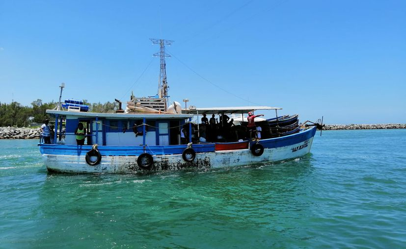 Este último viaje lo está dando poco menos del 50 por ciento del total de embarcaciones. (Gerardo Keb/Novedades Yucatán)