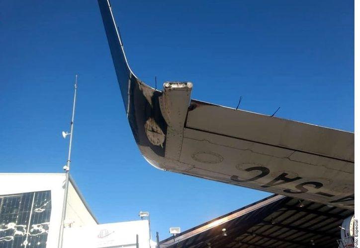 De acuerdo con el sitio web Aviation Mex, al momento del incidente la aeronave estaba despegando en el Aeropuerto Internacional de Chihuahua.(Foto: Reforma)