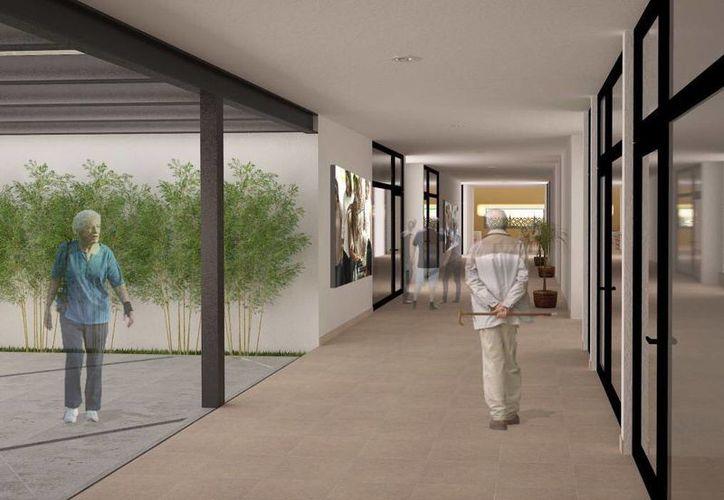 El Ayuntamiento de Mérida duplicará su capacidad de atención a las personas de la tercera edad. Una perspectiva del proyecto arquitectónico de 'Renacer'. (Milenio Novedades)