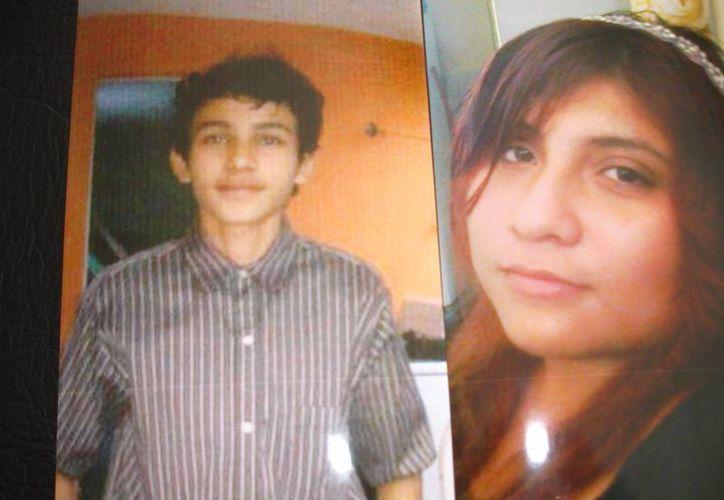 Diana Laura y el novio. Ella de 16 años, él de 15. (SIPSE)