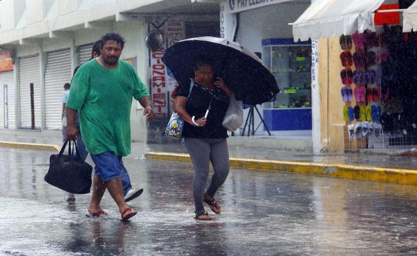 Chubascos vespertinos bañaron a Mérida este sábado. (Juan Albornoz/SIPSE)