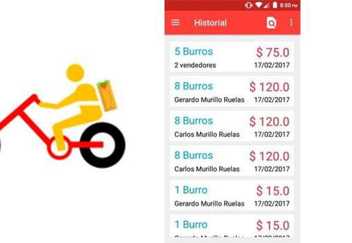 Gerardo Murillo, un estudiante de la Universidad Autónoma de Aguascalientes que ha desarrollado su propia aplicación para vender burritos. (SDP noticias).