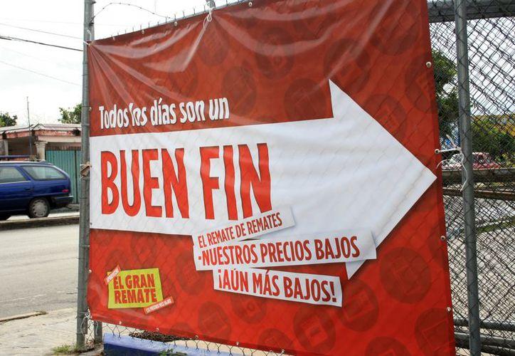 Con el Buen Fin algunos trabajadores recibieron anticipo de aguinaldo. (Guadalupe Adrián/SIPSE)