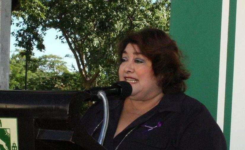 Rosario Cetina Amaya a se comprometió a aumentar el número de mujeres capacitadas. (Milenio Novedades)