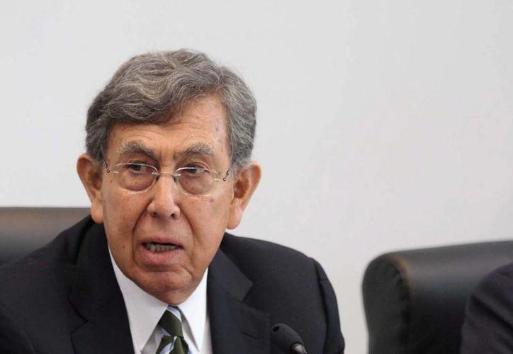Cuauhtémoc Cárdenas descartó recurrir a instancias internacionales para pedir la defensa de los hidrocarburos nacionales. (Archivo/Notimex)