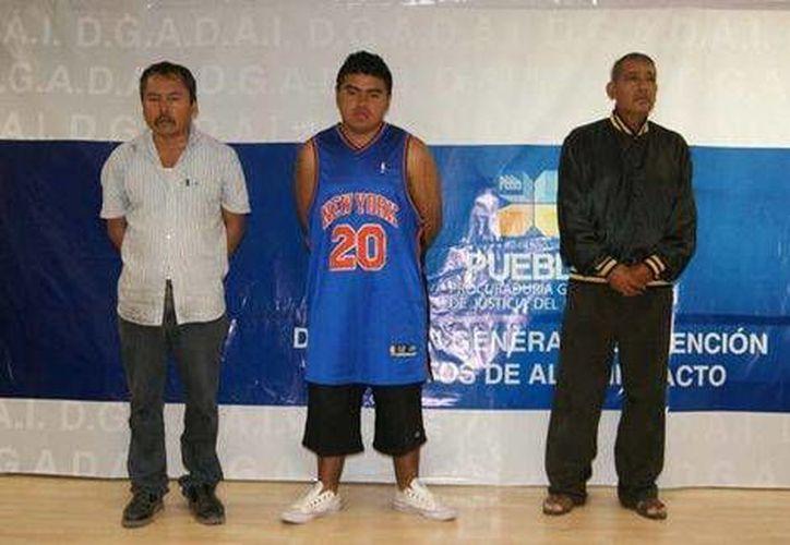 Estos son los tres sujetos implicados en el secuestro e intento de homicidio del menor. (Foto Especial/MILENIO)