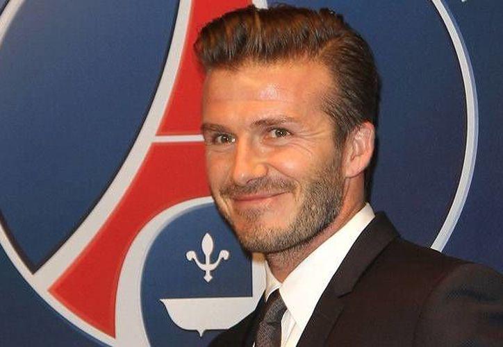 Beckham, de 38 años, juega hoy para el Paris Saint Germain. (Agencias)