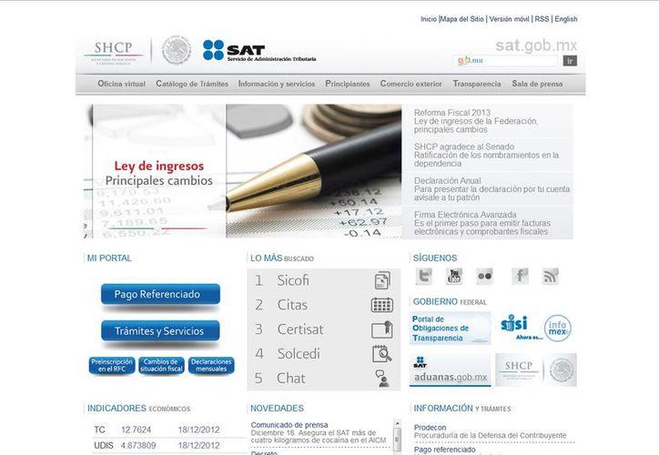 Los interesados pueden consultar la página electrónica www.sat.gob.mx. (sat.gob.mx)