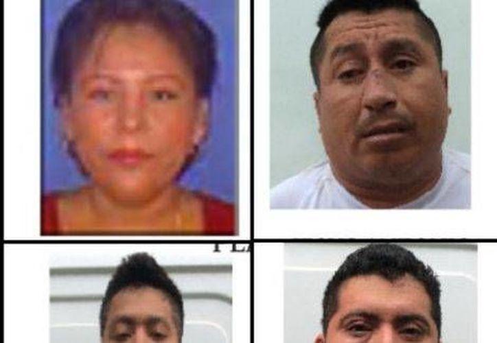 Estos son cuatro de los presuntos secuestradores y asesinos de Gregorio Jiménez, cuyo cuerpo fue hallado en la misma fosa clandestina donde fue encontrado el cadáver de Ernesto Ruiz Guillén, secretario de la CTM. (Milenio)