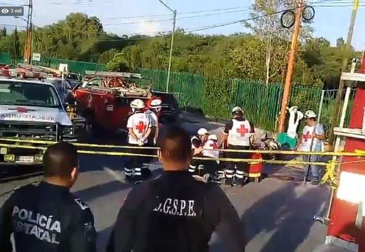 Mortal accidente mancharon la tarde de este miércoles en la ciudad de San Luis Potosí. (impresión de pantalla)