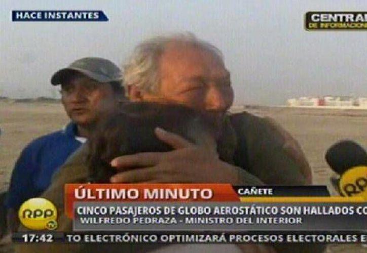 Imagen del rescate tomada de la televisión peruana. (laprensa.pe)
