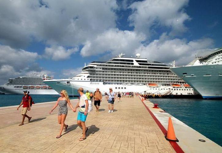 Varias empresas han optado por tener barcos o cruceros que salen desde Cozumel. (Foto: Contexto/SIPSE)