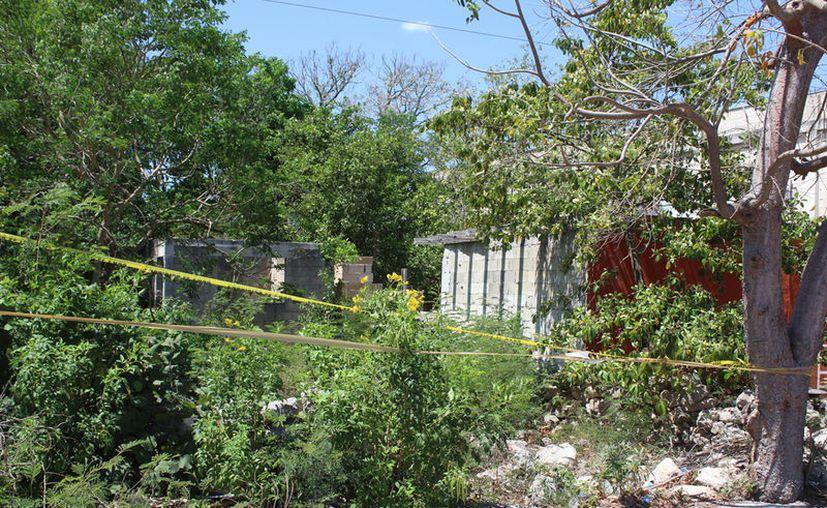 El cadáver se encontraba dentro de esta construcción. (Novedades Yucatán)