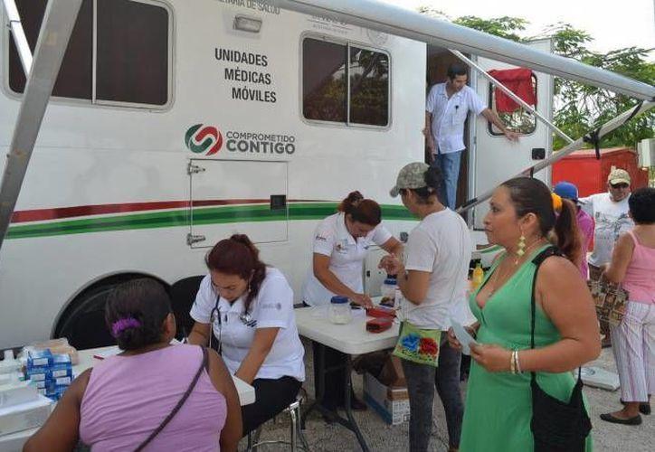 Comités de salud, maestros, alumnos y la población en general participaron activamente. (Redacción/SIPSE)
