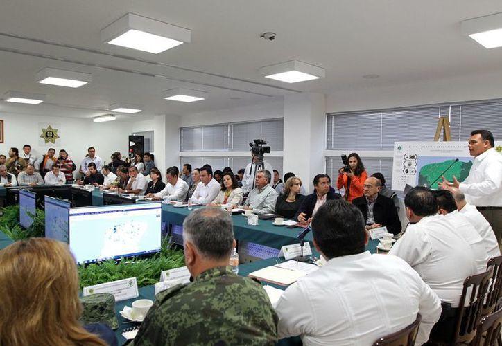 El Gobernador Rolando Zapata Bello presidió ayer la  XXVI sesión extraordinaria del Consejo Estatal de Seguridad Pública. (Cortesía)