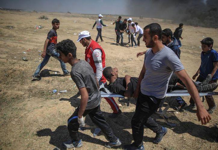 Cerca de 40 mil palestinos participaron en los disturbios. (Internet)