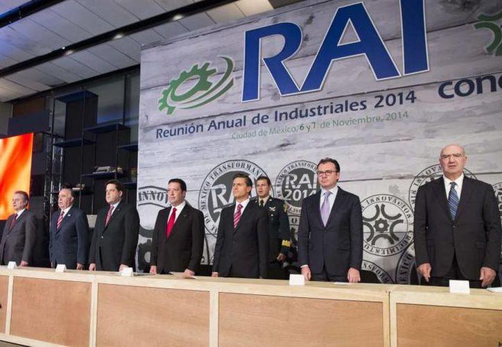 Peña Nieto reconició el liderazgo y contribución del empresariado mexicano al desarrollo del país. (Presidencia)