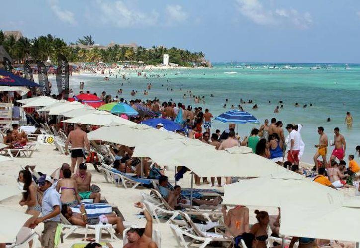 Reportes de la Cámara Nacional de Comercio (Canaco), refieren que en Playa del Carmen, la Quinta Avenida llega a recibir más de 20 mil personas al día. (Octavio Martínez/SIPSE)