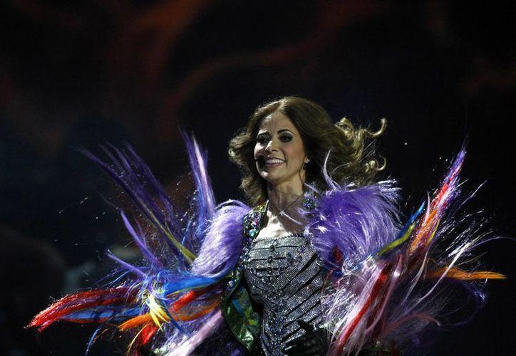 Gloria Trevi logró 'domar' al público de la Quinta Vergara. (Agencias)