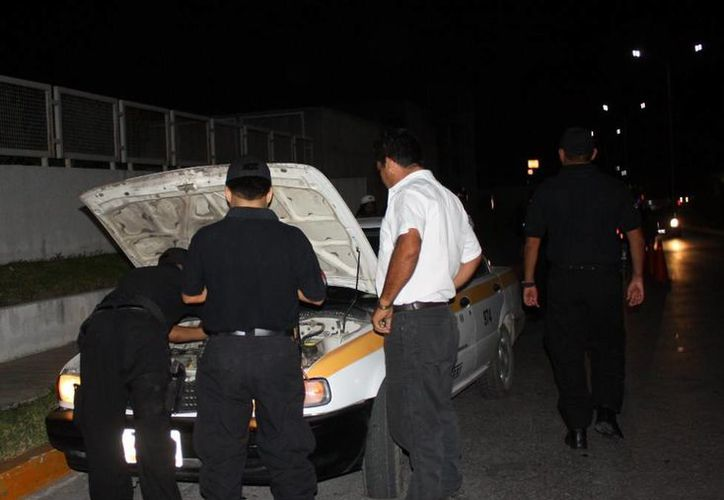 La policía judicial realiza operativos constantes y aleatorios en la capital del estado. (Cortesía/SIPSE)