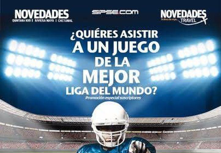 """Participa en el sorteo """"Asiste a un juego de la mejor liga de fútbol americano del mundo, todo pagado"""". (Redacción/SIPSE)"""