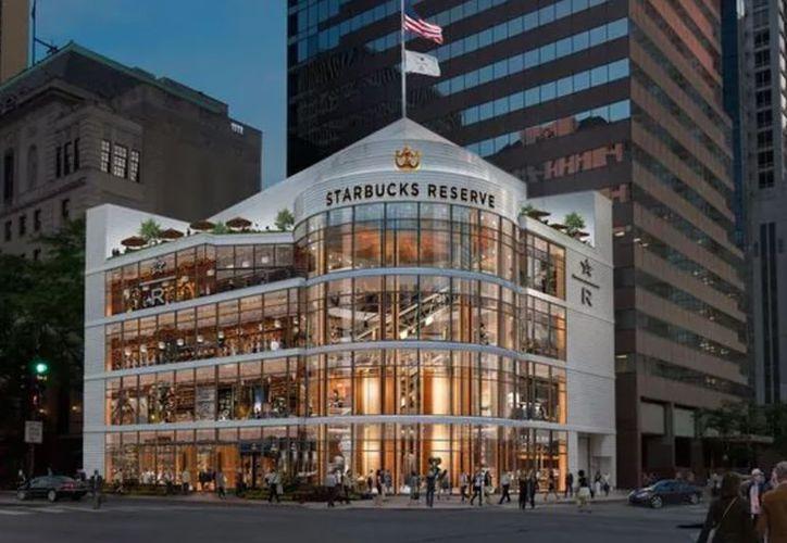 Así lucirá la sucursal de Starbucks más grande del mundo; estará en Chicago. (Internet)