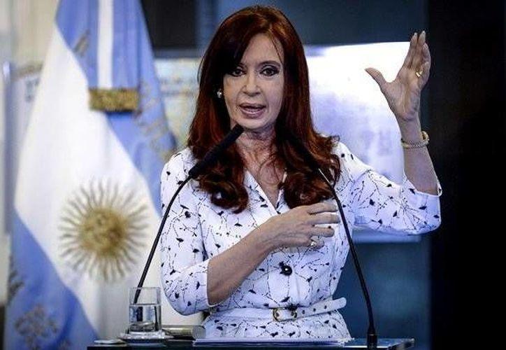 Cristina Fernández de Kirchner dijo estar satisfecha con el desempeño de la selección de Argentina. (Mediotiempo)