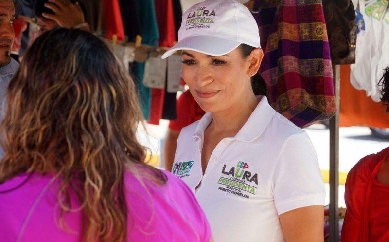 Laura Fernández, candidata a la presidencia municipal de Puerto Morelos aseguró que es hora de que las mujeres reciban una retribución justa por lo que aportan a la sociedad. (SIPSE)