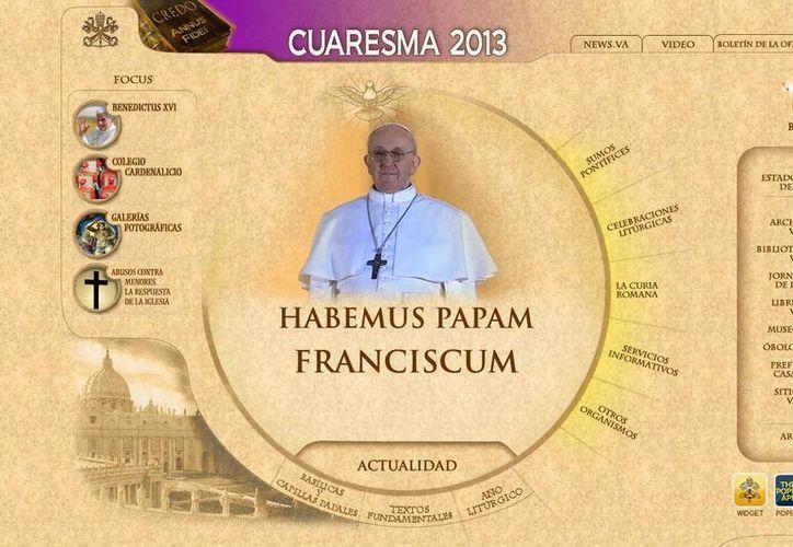 La página oficial del Vaticano cita al Santo Padre como Francisco. (Captura de pantalla)