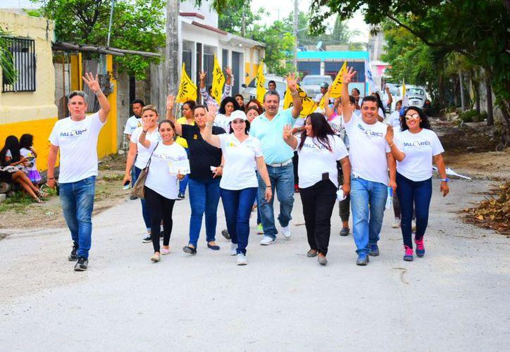 Un cuerpo policiaco con una buena remuneración económica puede ofrecer mejores resultados para Cancún, plantea la candidata a diputada federal por el Distrito 04. (Redacción/SIPSE)