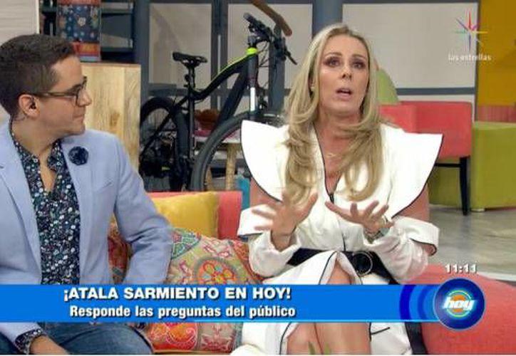 """Atala fue recibida por """"El Negro"""" Araiza, Mauricio Mancera y Fernando del Solar. Foto: SDP"""