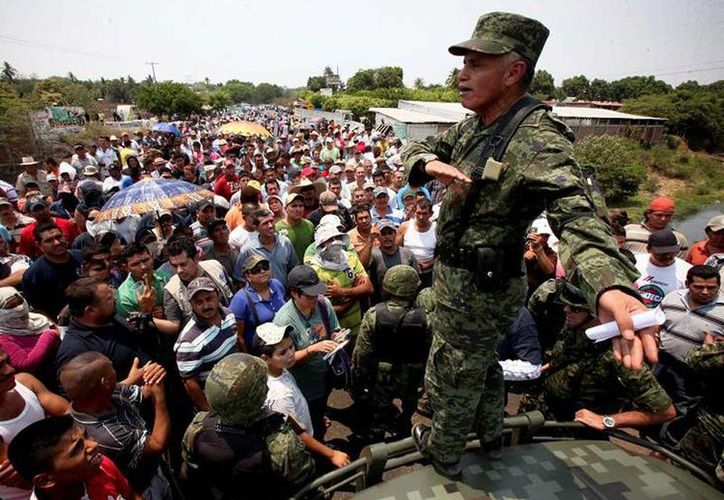 El general Sergio Arturo García Aragón participó en los procesos de desarme de las autodefensas en Michoacán. (Jorge Serratos/El Universal)