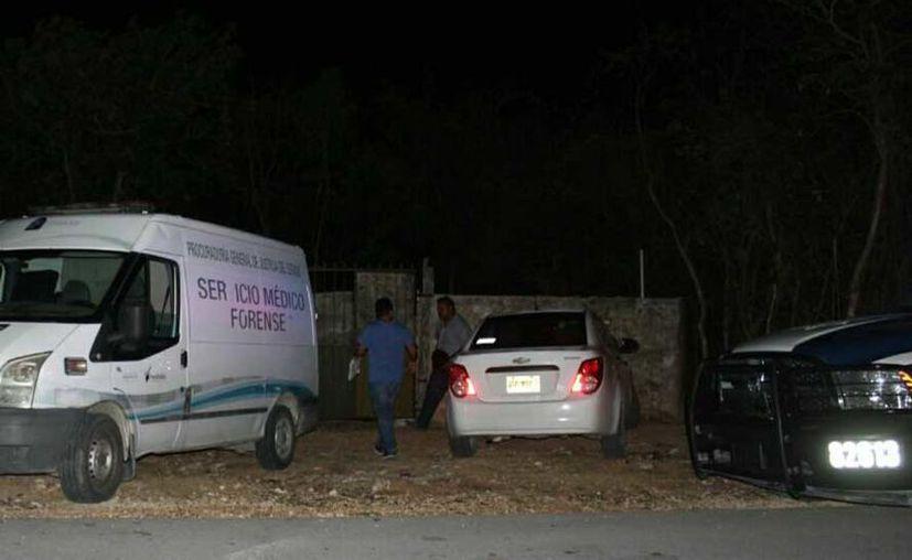 Los hechos ocurrieron la noche de este jueves en un tramo de terracería  aproximadamente a 8 kilómetros del Cereso en Playa del Carmen. (Redacción/SIPSE)