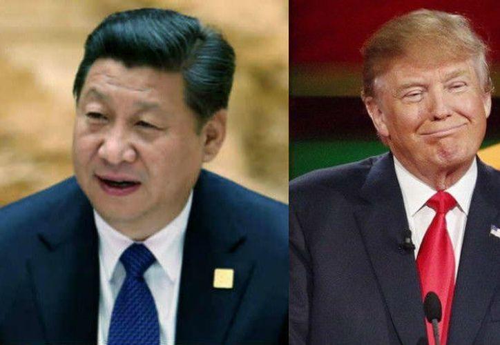 Trump y su esposa Melania recibieron a Xi y su mujer, la ex cantante Peng Liyuan. (India Writes).