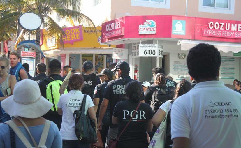 Las autoridades siguen buscando a integrantes de la red de pornografía. (Eric Galindo/SIPSE)