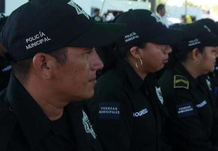 Recientemente agentes de la Policía Municipal de Progreso exámenes de control y confianza. (SIPSE)