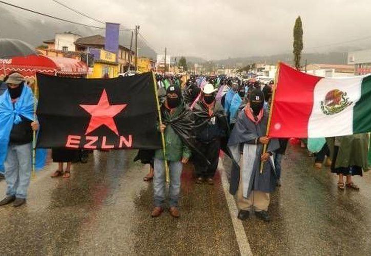 El Ejército Zapatista de Liberación Nacional negó las versiones que indicaban que postularía a una mujer indígena para la Presidencia de la República. (Archivo/SIPSE)
