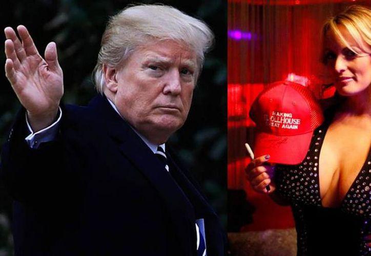 La actriz afirma que mantuvo relaciones sexuales con Donald Trump, aunque éste lo niega. (Internet)